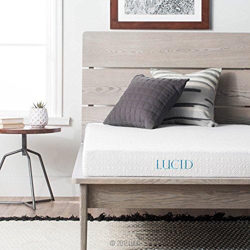LUCID 5 Inch Gel Memory Foam Mattress – Dual-Layered – CertiPUR-US Certified – Firm Feel – Twin Size