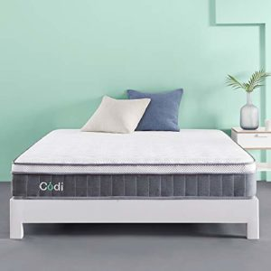 Codi 10 Inch Innerspring Hybrid Memory Foam Mattress – Twin XL – Zero Fiberglass or Latex, Healthy and Hypoallergenic – Advance Tencel Top with Gel Foam Keeps You Cool All Night- CertiPUR-US CERTIFIED
