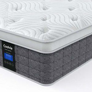 Full Mattress, Coolvie 12 Inch Memory Foam and Innerspring Hybrid Mattress, Suppotive and Pressue Relief, Sleep Cool, Full Size Mattress in a Box