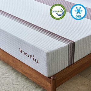 Full Mattress, Inofia 11 Inch Gel Memory Foam Mattress Cooler Spine Aligned Pressure Relief with Breathable Soft Knitted Fabric Cover Mattress in a Box (Full)