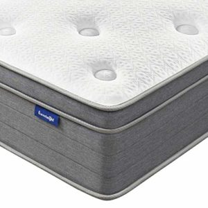 King Mattress, Sweetnight 12 Inch Plush Pillow Top King Size Mattress-Individually Pocket Spring Hybrid Mattress with CertiPUR-US Certified Gel Memory Foam for Motion Isolation & Cooler Sleep