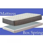 Nutan 10-Inch Pocketed Coil Rolled Medium Plush Mattress and 5″ Easy Wood Box Spring with Simple Assembly, Beige