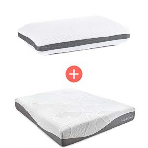 Perfect Cloud Ultraplush 10-Inch Memory Foam Mattress and Diamond Rest Memory Foam Pillow Bundle (Twin)