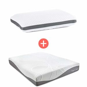 Perfect Cloud Ultraplush 10-Inch Memory Foam Mattress and Diamond Rest Memory Foam Pillow (Full)