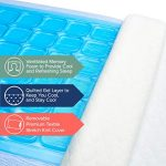 Perfect Cloud Ultraplush 10-Inch Memory Foam Mattress and Dual Option Cooling-Gel Memory Foam Pillow Bundle (RV Short Queen)