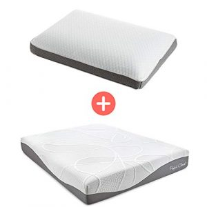 Perfect Cloud Ultraplush 10-Inch Memory Foam Mattress and Dual Option Cooling-Gel Memory Foam Pillow Bundle (Twin)