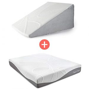 Perfect Cloud Ultraplush 10-Inch Memory Foam Mattress and Plush 7-Inch Memory Foam Wedge Pillow Bundle (RV Short Queen)