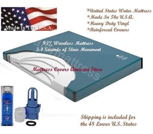 U.S. Water Queen 95% Waveless Waterbed Mattress with Fill Kit and 4oz Conditioner