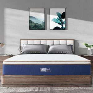BedStory Hybrid Mattress Full, 10 Inch 100% Natural Latex Memory Foam & Encased Pocket Coils Innerspring Medium Firm Mattress in a Box, CertiPUR-US Certified, Pressure Relieving & Breathable