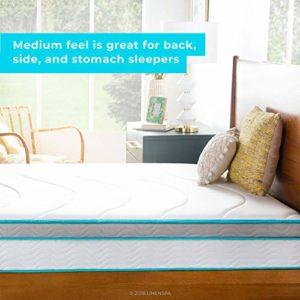 Linenspa 10 Inch Memory Foam and Innerspring Hybrid Mattress – Medium Feel – Queen