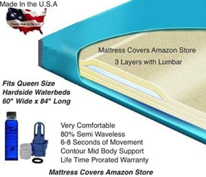 Queen 3000L 80% Semi Waveless Waterbed Mattress with Fill Kit and 4oz Conditioner