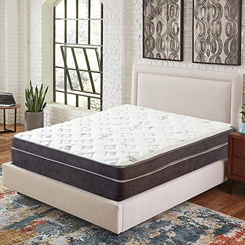 Nutan 12-Inch Euro Top Firm Foam Encased innerspring Mattress/Orthopedic Support for A Restful Night,King Size