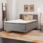 Nutan 13-Inch King Size Mattress and Box Spring – Foam Encased Soft Pillow Top Hybrid Contouring Comfort, No Assembly Required 78×79