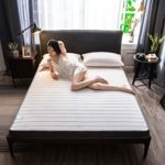 XUE XUEJIONG Natural Latex Memory Foam Filled Stereo Breathable Mattress, Thickness:10cm, Size:150X200 cm(Starry) XUE (Color : Gray Feather)