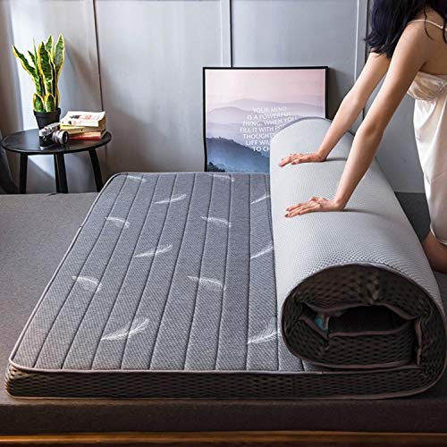 XUE XUEJIONG Natural Latex Memory Foam Filled Stereo Breathable Mattress, Thickness:6cm, Size:100X200 cm(Starry) XUE (Color : Gray Feather)