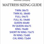 American Mattress Company 8″ Graphite Infused Memory Foam-Sleeps Cooler-100% Made in The USA-Medium Firm (RV Queen – 60×75)