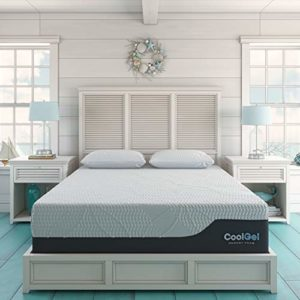 Classic Brands Cool 2.0 Ultimate Gel Memory Foam 14-Inch 2 Bonus Pillow Mattress, California King, White