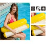 Darnell Pool Inflatable Floating Bed Floating Chair,Foldable Water Hammock Single People Inflatable Backrest Beach Lounger Swimming Pool Bed