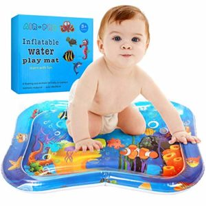 Light-Ren Blow-up Play Mat Pad Tummy Time Baby Inflatable Water Mat Sensory Stimulation (66x50cm/25.9819.68in)