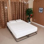 Memory Foam Mattress 10″ Two Layers Traditional Firm High Softness Cotton Mattress with 2 Pillows White
