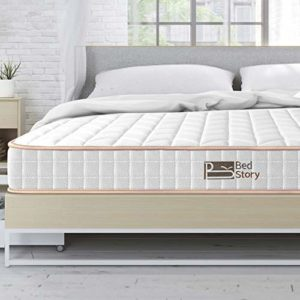 BedStory 6 Inch Queen Mattress, Hybrid Spring Mattresses with Innerspring Coils & CertiPUR-US Certified Foam, Medium Firm Bed in A Box – Supportive Comfort