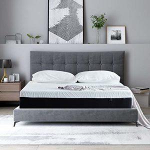 Blackwolf 10 Inches Gel Memory Foam Mattress – Medium Comfort (King)