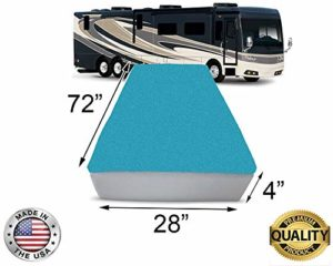 FoamRush 4-Inch Bunk (28″x72″) Mattress Cooling Gel Memory Foam RV Mattress Replacement, Medium Firm, Comfort, Pressure Relief Support, Made in USA, Travel Camper Trailer Truck, Cover Not Included