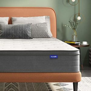 King Mattress, Sweetnight 10 Inch Memory Foam and Hybrid Innerspring Mattress for Motion Isolation & Pressure Relief, Medium Firm Mattress, King Size