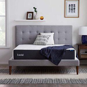 LUCID 10 Inch 2020 Gel Memory Foam Mattress – Medium Plush Feel – CertiPUR-US Certified – Hypoallergenic Bamboo Charcoal – Twin