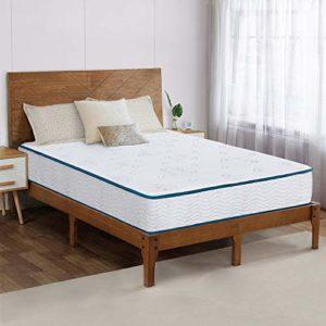 Olee Sleep 9 Inch Skyline Tight Top Innerspring Hybrid Mattress, Gel Memory Foam, Mattress in a Box, CertiPUR-US Certified, King