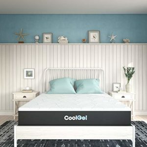 Classic Brands Classic 2.0 Quilted Cool Gel Memory Foam 10-Inch Mattress , California King, White