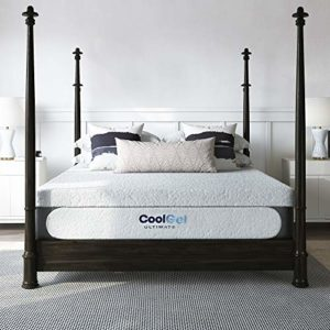 Classic Brands Cool 1.0 Ultimate Gel Memory Foam 14-Inch Bonus 2 Pillows Mattress, King, White