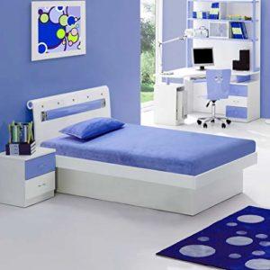 Irvine Home Collection M7Blue Kids 6″ Gel Memory Foam Size Mattress | CertiPUR-US Certified | Medium Firm Sleep Experience | Twin | Blue | FREE MATCHING PILLOW