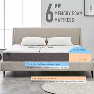 Narrow Twin Mattress, Molblly 6 Inch Memory Foam Mattress in a Box, Breathable Bed Comfortable Mattress with CertiPUR-US Certified Foam for Sleep Supportive & Pressure Relief, Narrow Twin Size Bed