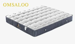 OMSALOO Hand Made with Euro Pillow Top Latex Memory Foam, Individually Pocket Spring Hybrid Mattresses for Motion Isolation1.8x2m