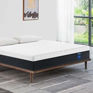 Full Mattress 10 Inch, Coolvie Memory Foam and Innerspring Hybrid Mattress in a Box, Medium Firm Feel, Motion Isolation Pocket Coil with Cool Memory Foam, Risk-Free 100 Night Trial, 10 Year Warranty