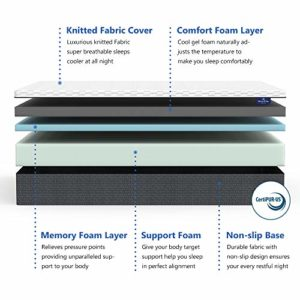 Inofia Full Mattress 12 Inch, Adaptive Foam Mattress in a Box, Sleeps Cooler with More Pressure Relief & Support Than Memory Foam, CertiPUR-US Certified, 100-Night Sleep Trial, 10 Years Warranty