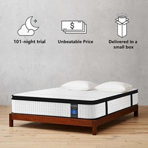 Inofia Twin XL Mattress, 10 Inch Hybrid Innerspring Single Mattress in a Box, Cool Bed with Breathable Soft Knitted Fabric Cover, CertiPUR-US Certified, 100 Risk-Free Nights Trial
