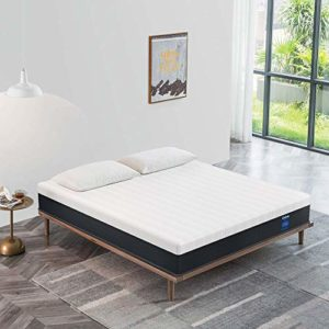 Queen Mattress 10 Inch, Coolvie Memory Foam and Innerspring Hybrid Mattress in a Box, Medium Firm Feel, Motion Isolation Pocket Coil with Cool Memory Foam, Risk-Free 100 Night Trial, 10 Year Warranty