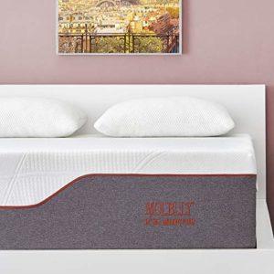 Queen Mattress, Molblly 14 inch Ventilated Gel Memory Foam Mattress with Bonus 2 Pillows – Bed Mattress in a Box – CertiPUR-US Certified Foam