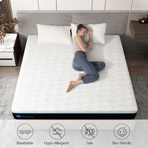 Queen Memory Foam Mattress, Avenco 10 Inch Queen Size Mattress in a Box, Premium Bed Mattress Queen with CertiPUR-US Certified Foam for Supportive, Pressure Relief & Cooler Sleeping, 10 Years Warranty