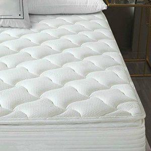 TASTELIFE Gel Hybird Mattress, Bamboo Fabric, 10 inch Innerspring and Gel Memory Foam Mattress in a Box, Medium-Firm Feel, 10-Year Warrant (Twin, 10″)