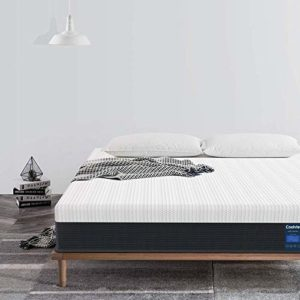 Twin Mattress 10 Inch, Coolvie Memory Foam and Innerspring Hybrid Mattress in a Box, Medium Firm Feel, Motion Isolation Pocket Coil with Cool Memory Foam, Risk-Free 100 Night Trial, 10 Year Warranty