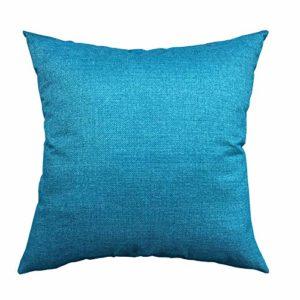 Pillow Cases for Mattress King Rucas, Soft Cotton Fabric Memory Foam Mattress 1 Pack,Blue