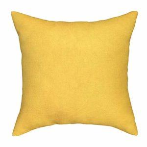 Rucas Pillow Cases for Memory Foam Mattress,Soft Cotton Microfiber Fabric Full Mattress 1 Pack, Yellow